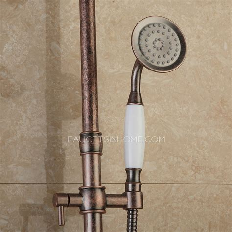 interdesign 174 rain oil rubbed bronze pole shower caddy moen old world bronze double curved shower rod shower