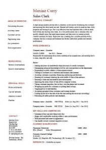 Sle Of A Cv Resume by Sales Clerk Resume Exle Sle Handling Cv Layout Selling Customers Shop