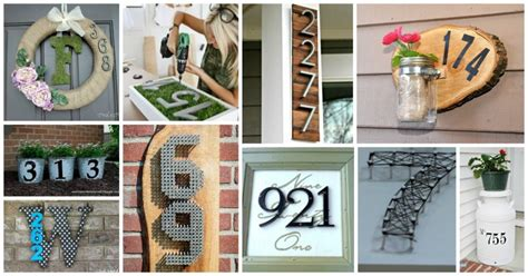 diy house numbers diy house number ideas archives my amazing things
