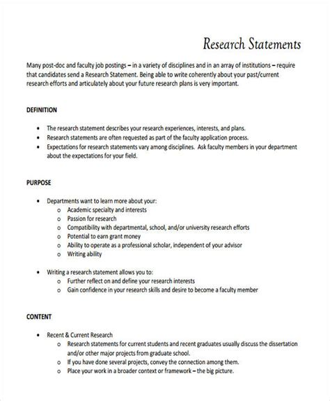 the best statement about objective reality is 17 research statement exles pdf doc