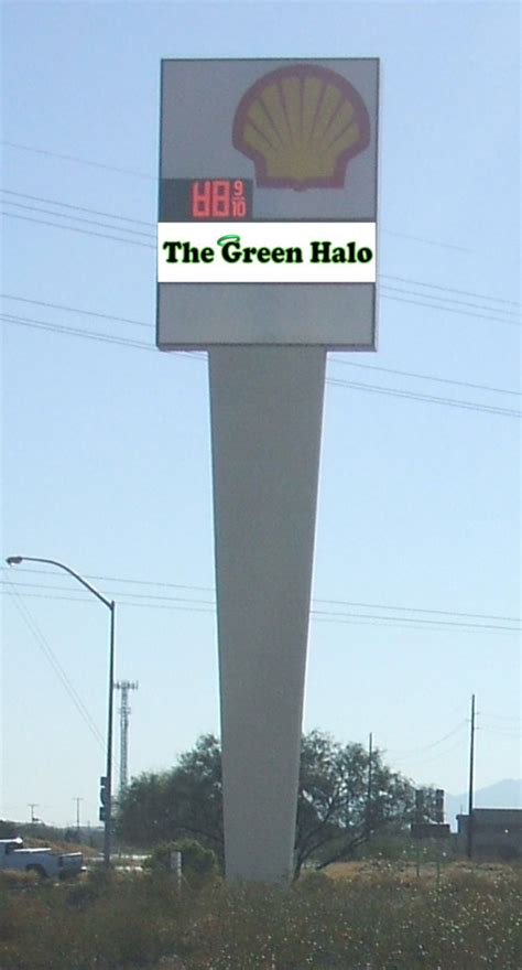 lighted pole sign illuminated pole sign for the green halo innovative