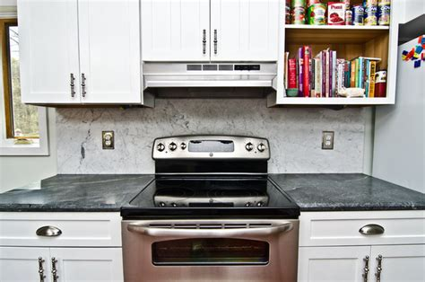 soapstone counters with white carrara marble