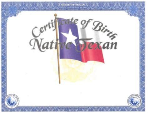 Tx Vital Records Birth Certificates Vital Statistics Heirloom Birth Certificates