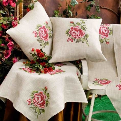 Shabby Home Decor Pink Lace Table Cloth 70120 Taplak Meja embroidery tablecloth