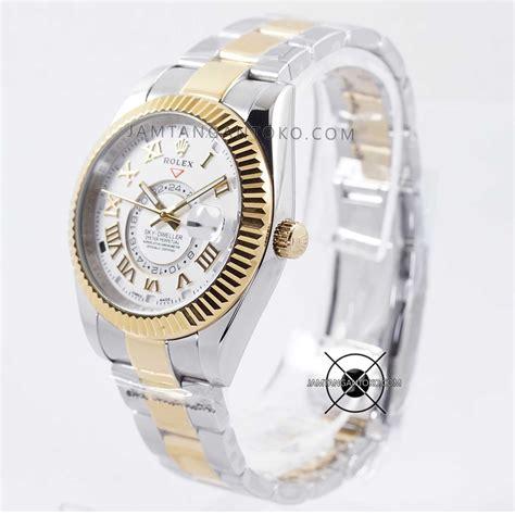 Rolex Murah Silver Gold harga sarap jam tangan rolex sky dweller silver gold