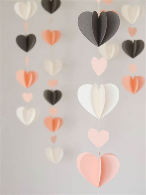 Paper Craft Hearts - 17 best ideas about paper decorations on