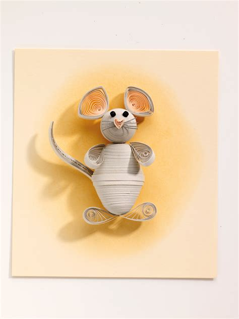 quilling mouse tutorial paper quilled mouse 183 extract from quilled animals by