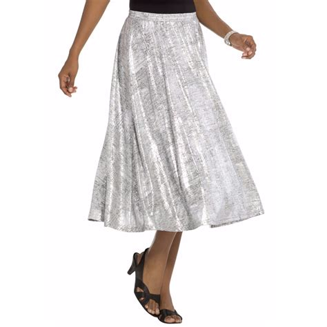 novelty l 10xl plus size metallic skirt skirt