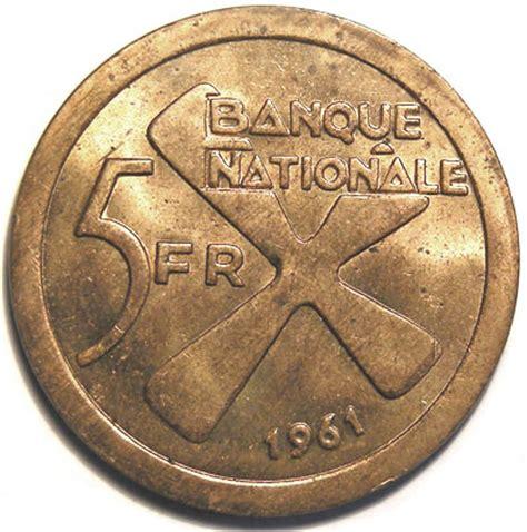 Koin Koleksi Katanga 1 5 Francs 1961 2 Bronze Coins Set 5 francs katanga numista