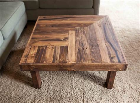 Handmade Wooden Coffee Tables - pallet wooden coffee table design pallet furniture plans