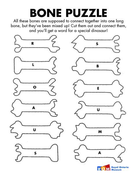 dinosaur bones template dinosaur bones template bone puzzle animals