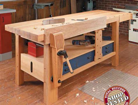 shaker style workbench woodsmith shop tools jigs