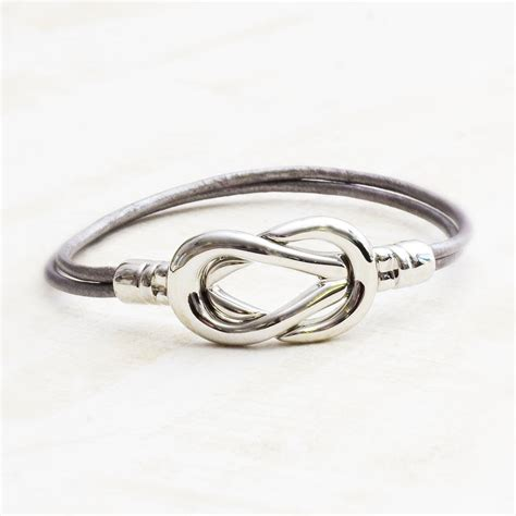 infinity knot personalised bracelet by bloom boutique