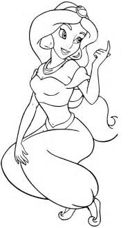 coloring pages for princess jasmine gallery
