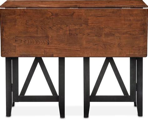 renzo bar cabinet american signature furniture nantucket breakfast bar black and cherry american