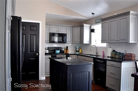 Grey Kitchen Cabinets With Black Appliances Grey Cabinets And Black Appliances This Could Be For My Home Kitch