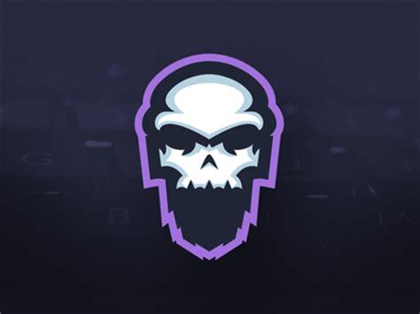 skullbeard gaming bearded skull mascot logo by mason