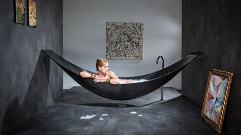 Fiber Bathtub this carbon fiber hammock bathtub is the epitome of relaxation