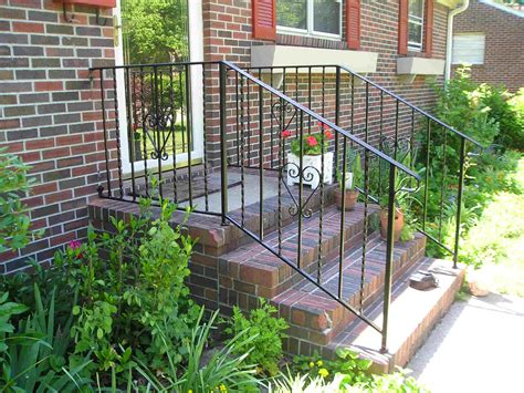 outdoor banisters and railings wrought iron porch railings stair rails for homes