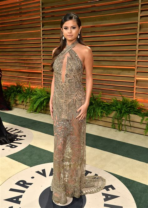 Vanity Fair After by Selena Gomez At The 2014 Vanity Fair Oscars You