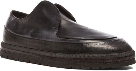 mars 232 ll platform laceless leather dress shoes in black lyst