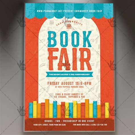 book flyer template book fair premium flyer psd template psdmarket