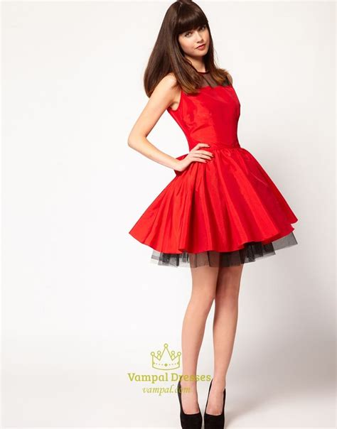 christmas cocktail party dress red and black short homecoming dresses red dresses for