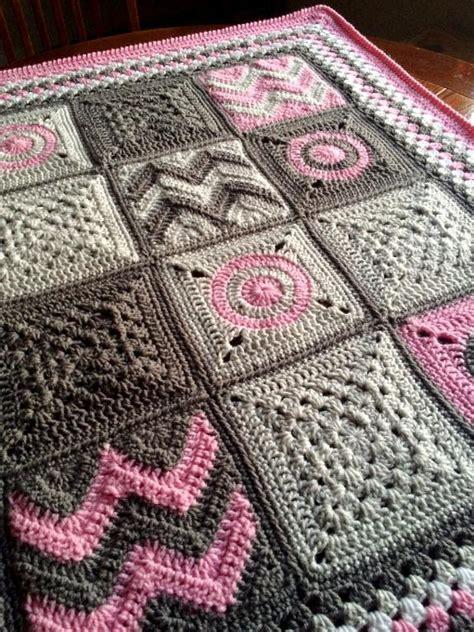 Patchwork Crochet Blanket - modern patchwork blanket by babylove brand craftsy