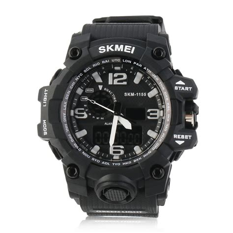 skmei dual time sport 1155 skmei waterproof dual time digital sports shock