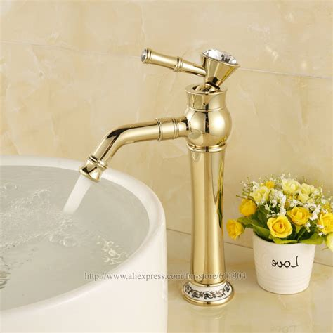 gold color bathroom faucets aliexpress com buy gold color tall bathroom faucet