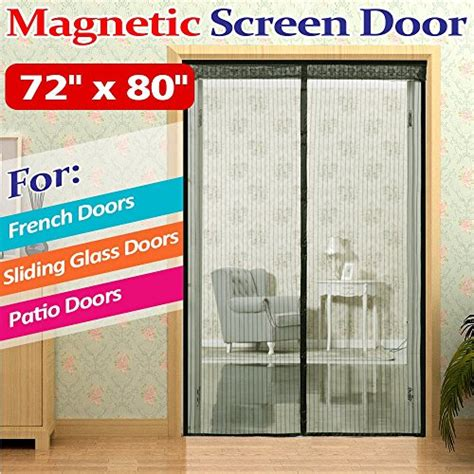 magnetic patio door screen save 27 72 quot w x 80 quot h free magnetic screen