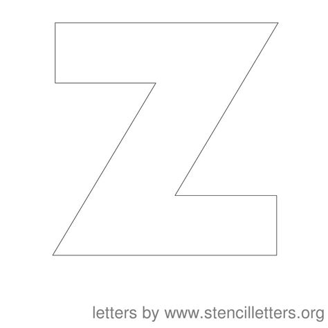 letter z template stencil letters 12 inch uppercase stencil letters org