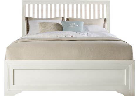 slat beds belcourt white 3 pc queen slat bed beds white