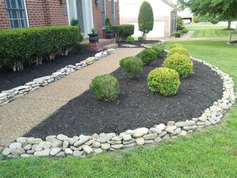 Garden Edging Rocks 12 Attractive Garden Edging Ideas With River Stones That Provide Inspiration