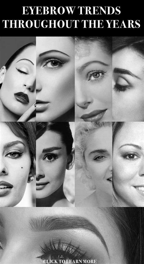 eyebrow fashions throughout the decades 1841 best make up images on pinterest makeup make up