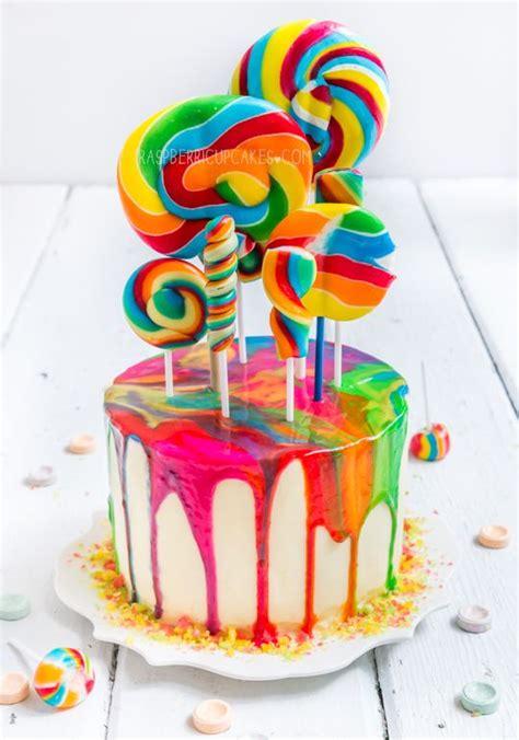lollipop kuchen psychedelic rainbow swirl lollipop cake raspberri
