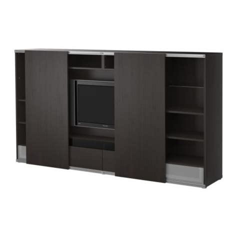 besta tv board po 196 ng footstool black brown isunda gray ikea tv