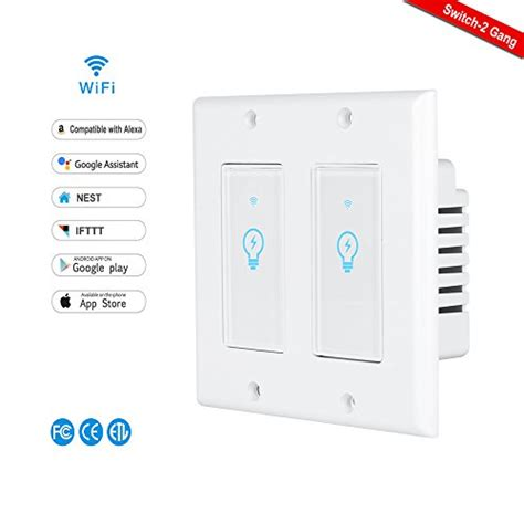 light switches compatible with google home smart switch lyasi wi fi light switch in wall compatible