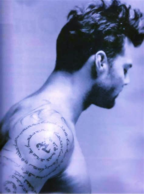 ricky martin tattoos ricky martin take a look at his tattoos it is what