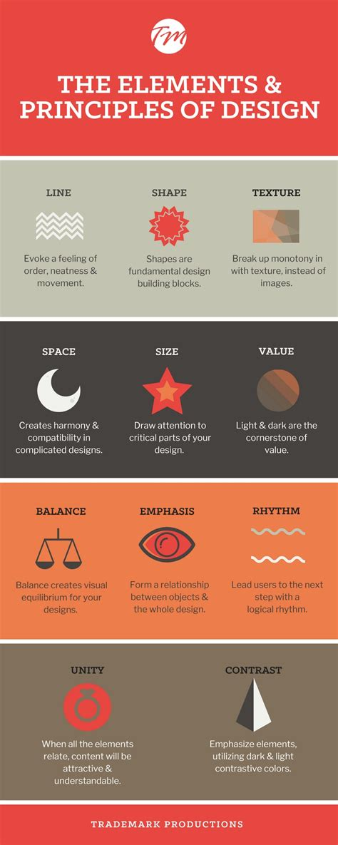 design elements and principles vce 6 elements principles of design infographic