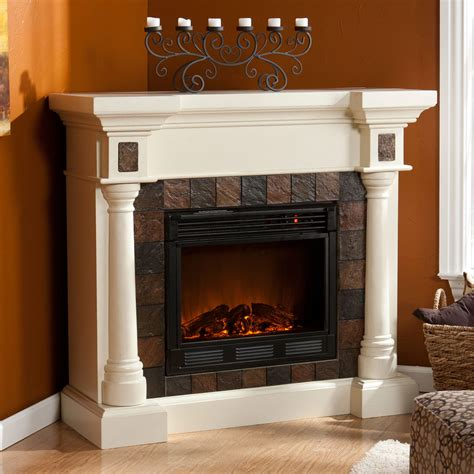 weatherford convertible ivory electric fireplace 37 251