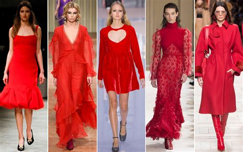 2017 color trends fashion the color red is a hot trend at the fall winter 2017 18 shows