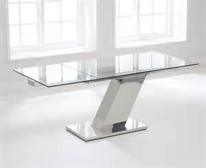 Glass Dining Table Extending 140cm Extending Glass Dining Table The Great Furniture Trading Company