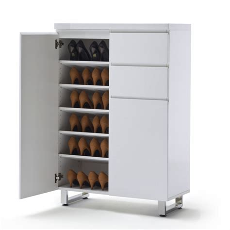 white shoe cabinet with doors sydney shoe cabinet in high gloss white with 2 door and
