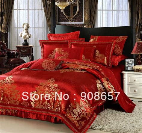 red and gold queen comforter set popular gold luxury bedding buy cheap gold luxury bedding