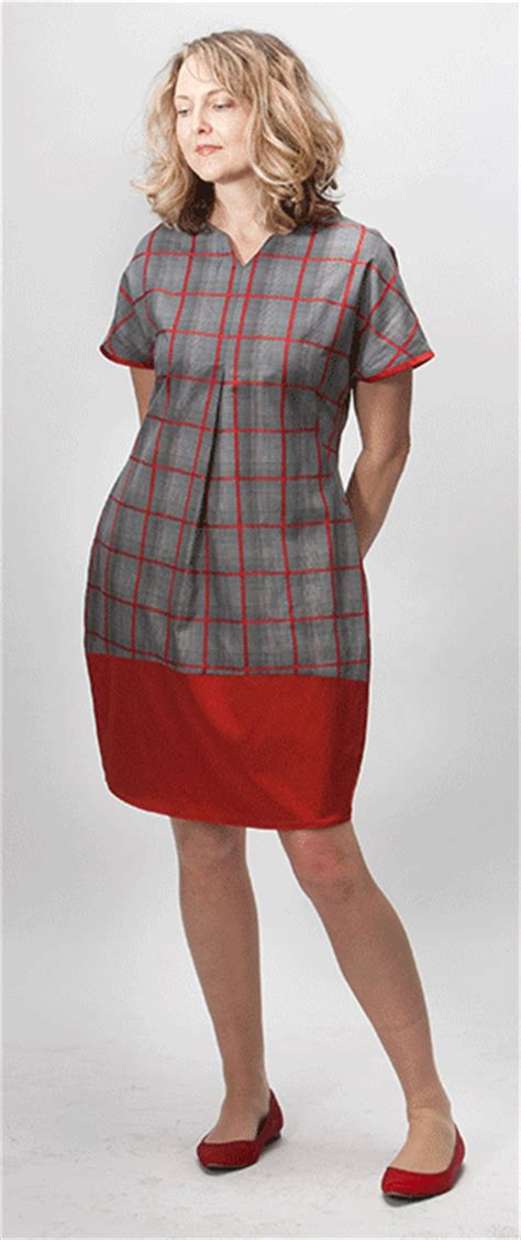 pattern tulip dress tulip dress with colourblock multisize sewing pattern