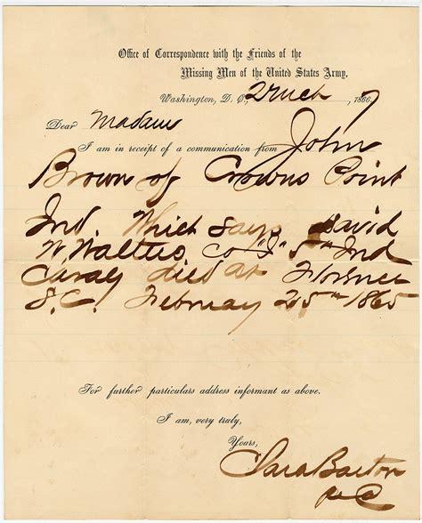 abraham lincoln letter to principal civil war letter