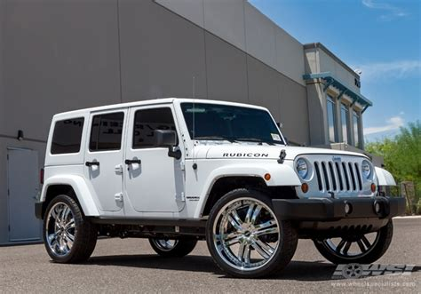 Chrome Jeep 2012 Jeep Wrangler With 24 Quot Avenue A607 In Chrome Wheels