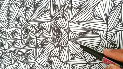 pattern art youtube how to draw random quot line optical illusions patterns