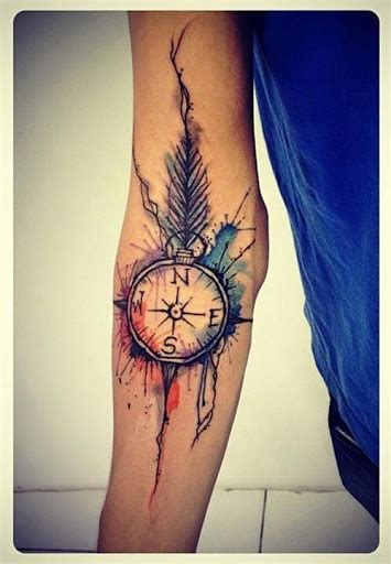 tattoo compass feather 50 best compass tattoo designs and ideas